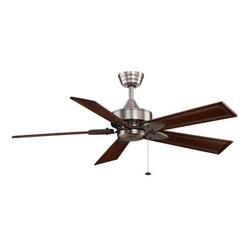 Windpointe Pewter Ceiling Fan with Dark Cherry Blades