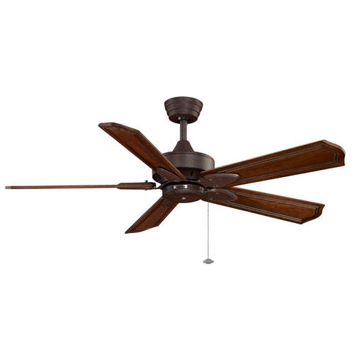 Fanimation Windpointe Rust Ceiling Fan with Rich Cognac Blades