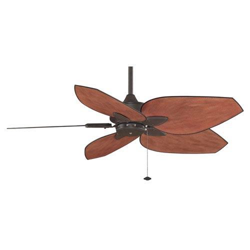 Windpointe Rust 52-Inch Ceiling Fan with Dark Mango Blades