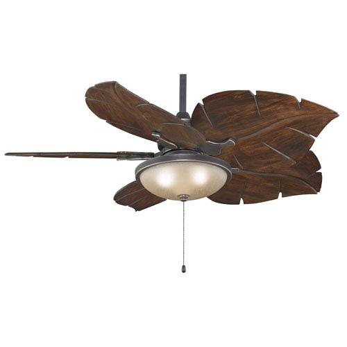 leaf ceiling fan. Islander Bronze Accent Ceiling Fan With Walnut Blades And Light Kit Leaf R