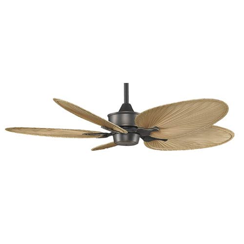 Fanimation Islander Bronze Accent 52 Inch Ceiling Fan With Natural Oval Palm Leaf Blades