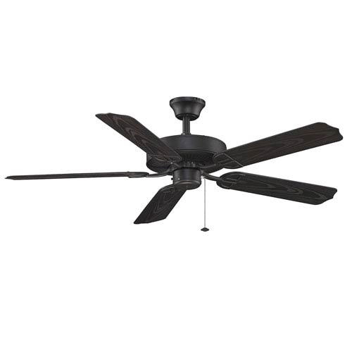 Aire Decor Builder Series Black 52-Inch Energy Star Blade Span Ceiling Fan w/ Black Blade