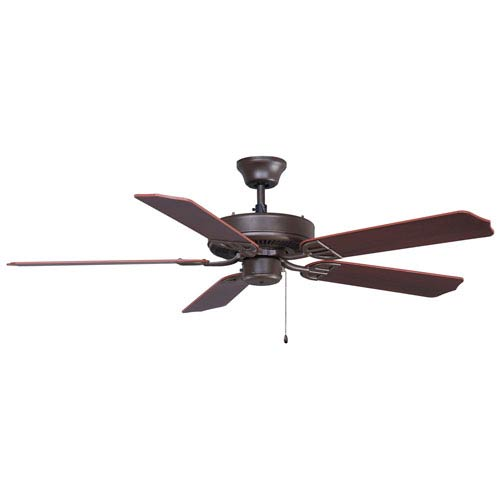 Fanimation Aire Decor Builder Series Oil Rubbed Bronze 52-Inch Energy Star Ceiling Fan with Walnut Blades