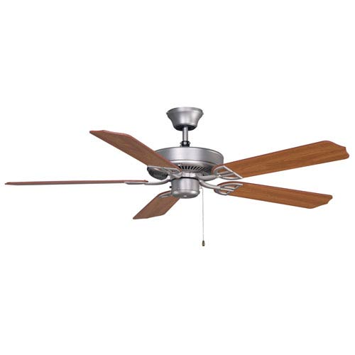 Fanimation Aire Decor Builder Series Satin Nickel 52-Inch Energy Star Ceiling Fan with Cherry Blades