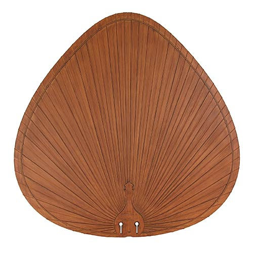 Brown 22-Inch Oval Composite Palm Leaf Outdoor Ceiling Fan Blade, Set of 5