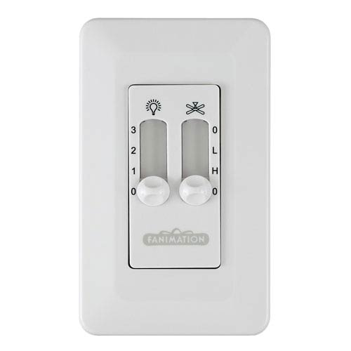 Fanimation Palisade White Fan and Light Wall Control