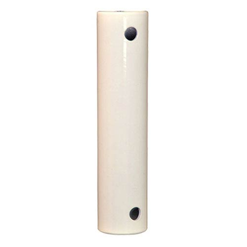 White 24-Inch Stainless Steel Downrod