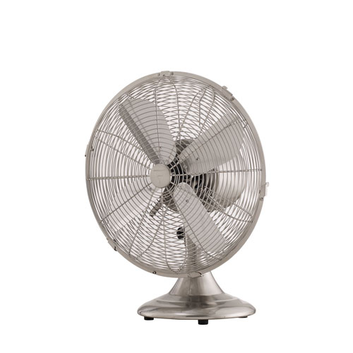 Junior Breeze Brushed Nickel 12-Inch Portable Fan