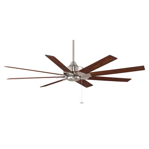 Levon Brushed Nickel 63-Inch Energy Star Ceiling Fan with Reversible Cherry/Walnut Blades