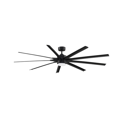 Fanimation Odyn 84 Black 84-Inch Energy Star Ceiling Fan with LED Light Kit