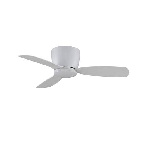 Embrace Matte White 44-Inch Ceiling Fan with Opal Frosted Glass