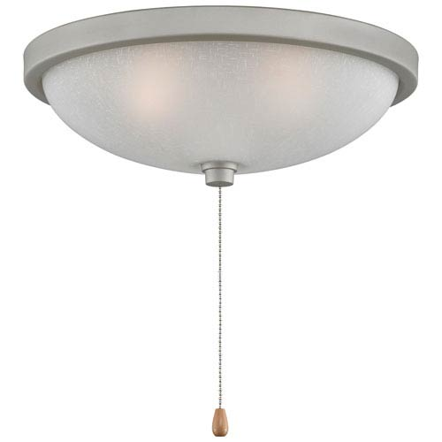 Fanimation Satin Nickel Low Profile 14-Inch Three-Light Bowl Light Kit