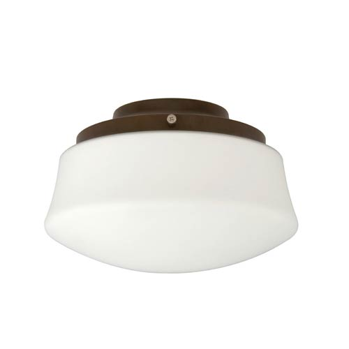 Fanimation Low Profile Tortoise Shell One-Light Kit with Flared Opal Frosted Glass
