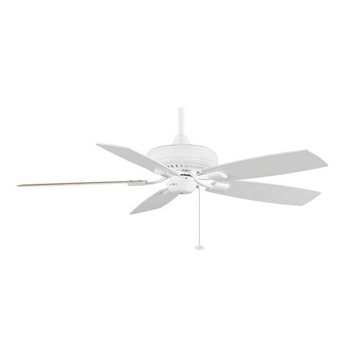 Edgewood Decorative White 52-Inch Energy Star Ceiling Fan with Reversible White/White Oak Blades