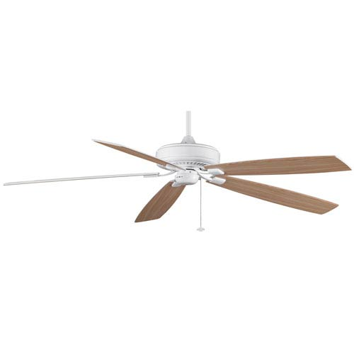 Fanimation Edgewood Supreme White Energy Star Ceiling Fan with Reversible White/White Oak Blades