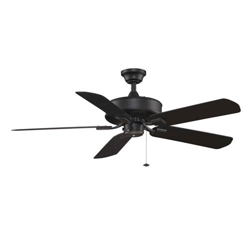 Edgewood Black Energy Star Outdoor Ceiling Fan with Black Blades
