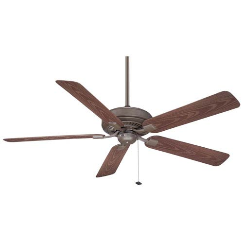 Fanimation Edgewood Deluxe Oil-Rubbed Bronze 60 Inch Blade Span Ceiling Fan w/ Dark Cherry Blade