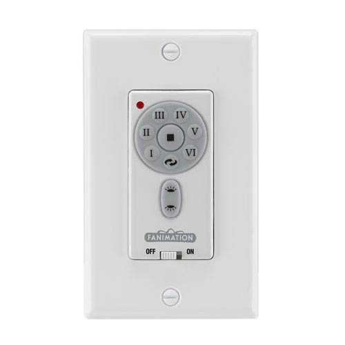 Fanimation White DC Reversible Fan and Light Wall Control