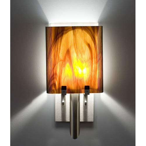 Dessy One/8 Rootbeer/White Wall Sconce