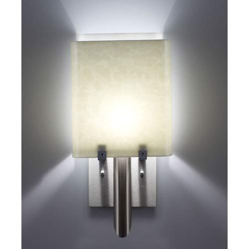WPT Design Dessy One/8 Sno with White Wall Sconce