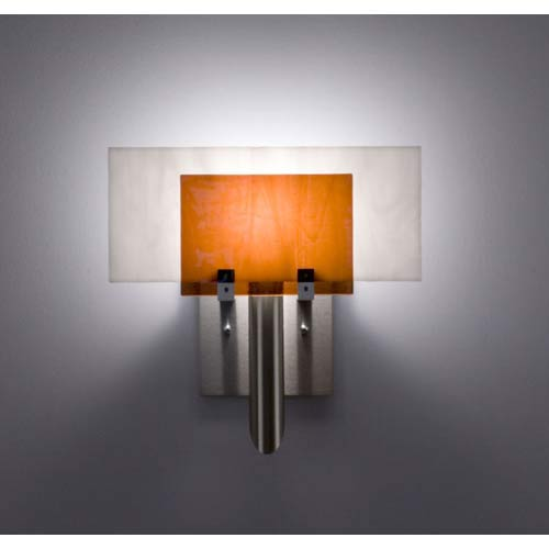 Dessy One Amber/White Flat Back Wall Sconce
