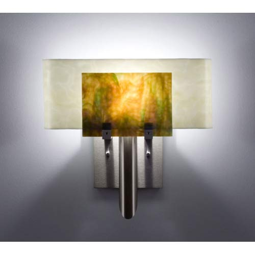 Dessy One Meadow with Snow Curved Back Wall Sconce