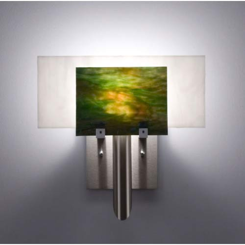 WPT Design Dessy One Meadow with White Flat Back Wall Sconce