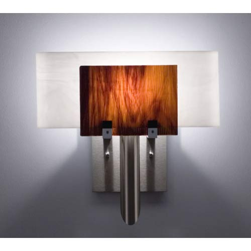 WPT Design Dessy One Rootbeer/White Curved Back Wall Sconce
