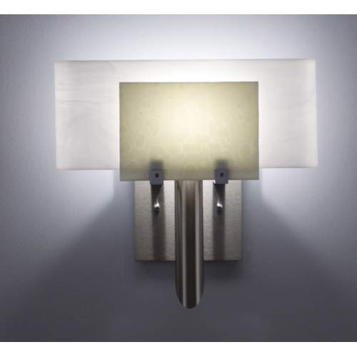 WPT Design Dessy One Sno with White Curved Back Wall Sconce