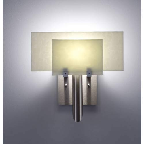 WPT Design Dessy One Sno with Snow Flat Back Wall Sconce