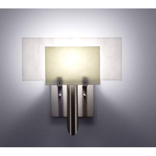 WPT Design Dessy One Sno with White Flat Back Wall Sconce