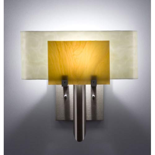 Dessy One Toffee/Snow Curved Back Wall Sconce