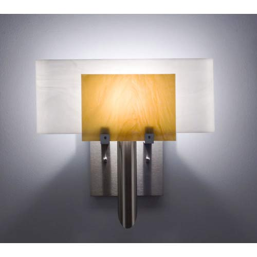 WPT Design Dessy One Toffee/White Curved Back Wall Sconce
