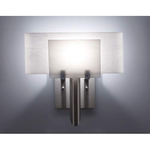 WPT Design Dessy One White/White Curved Back Wall Sconce