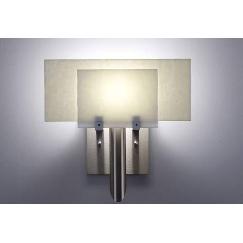 Dessy One White/Snow Flat Back Wall Sconce