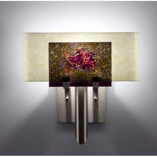 WPT Design Dessy One Wired Rose/Snow Curved Back Wall Sconce