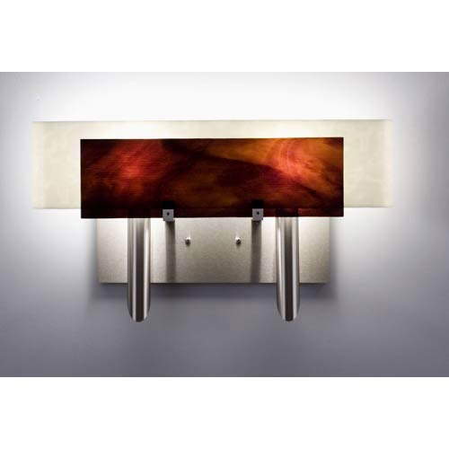 Dessy Two Rootbeer/Snow Curved Back Two-Light Bath Fixture