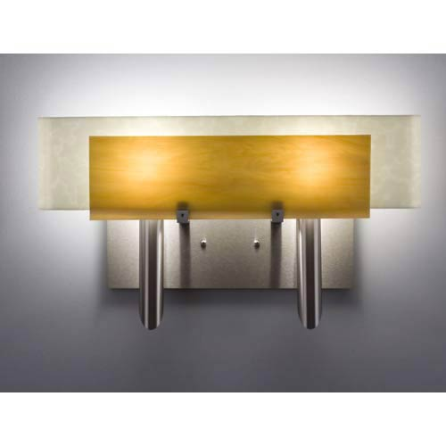 Dessy Two Toffee/Snow Curved Back Two-Light Bath Fixture