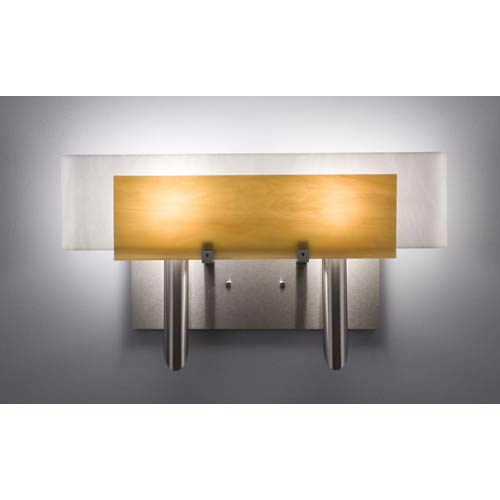 Dessy Two Toffee/White Curved Back Two-Light Bath Fixture