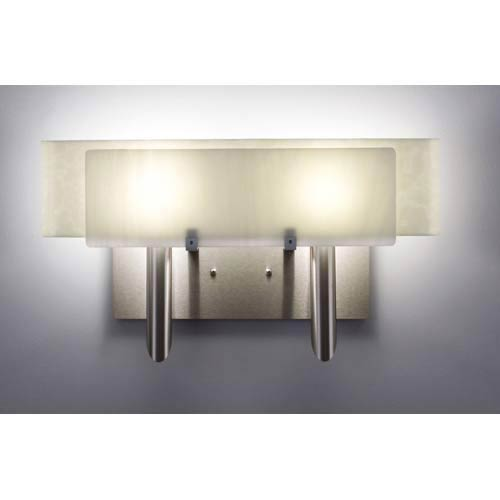 Dessy Two White/Snow Curved Back Two-Light Bath Fixture