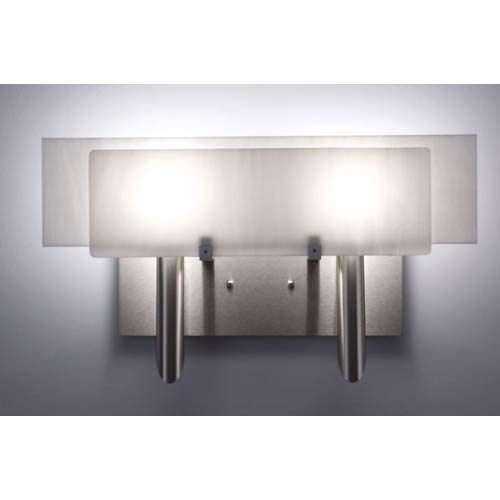 WPT Design Dessy Two White/White Flat Back Two-Light Bath Fixture