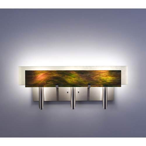 WPT Design Dessy Three Meadow with Snow Curved Back Three-Light Bath Fixture