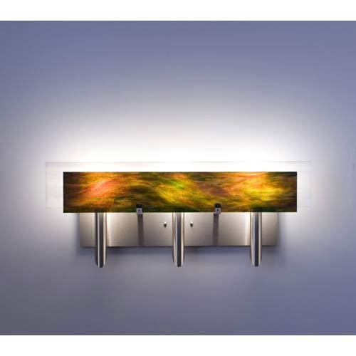 WPT Design Dessy Three Meadow with White Flat Back Three-Light Bath Fixture