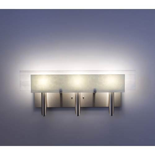 WPT Design Dessy Three Sno with White Flat Back Three-Light Bath Fixture