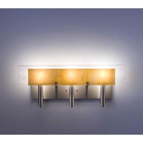 WPT Design Dessy Three Toffee/White Flat Back Three-Light Bath Fixture