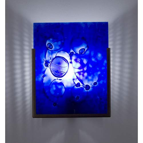 WPT Design F/N One Bronze Wired Blue One-Light Wall Sconce
