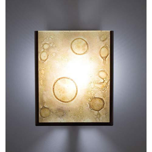WPT Design F/N Two Fluorescent Amber Lemon Drop Two-Light Wall Sconce