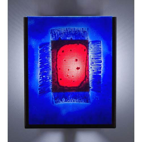 F/N Two IO Red Window Blue Outdoor Wall Mount