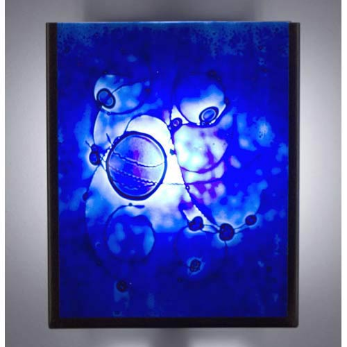 WPT Design F/N Two IO Wired Blue Outdoor Wall Mount