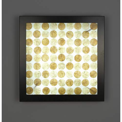 V-II Small Square Capiz Fluorescent Wall Sconce